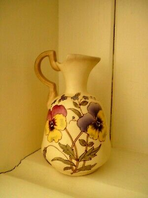 £6.99 • Buy A Very Pretty Small Victorian Jug/vase Decorated With Pansies