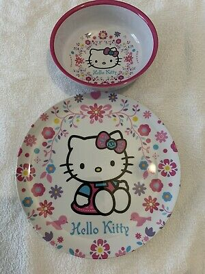 £9.99 • Buy Hello Kitty - 2 Piece Meal Time Plastic Plate And Bowl, Brand New