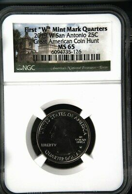 $ CDN24.17 • Buy 2019 W San Antonio Missions Quarter - NGC MS 65