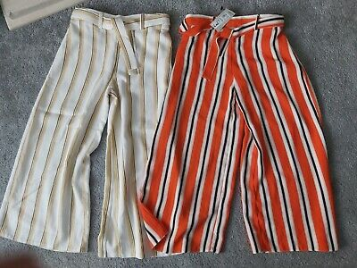 2 Pairs Bnwt River Island Palazzo Trousers Age  6 Years • 7.99£