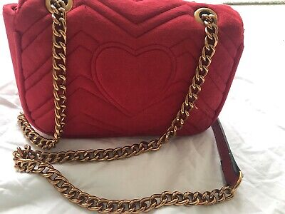 £30 • Buy Mini Red  Metal Chain Detail Cross Body Bag Front Has 2 Gs As A Glasp .