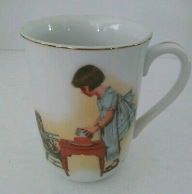 """$ CDN18.13 • Buy 1981 Vintage Norman Rockwell Museum  Party Time """" Coffee Tea Mug Cup 4"""