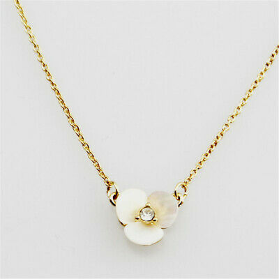 $ CDN23.06 • Buy Kate Spade Petal Delicate Flower Fashion Pansy Disco Mother Of Pearl Necklace