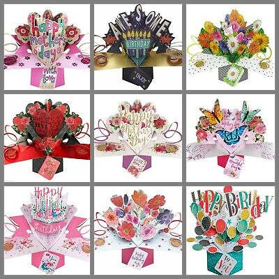 £5.99 • Buy Happy Birthday Pop Up Card For Her Female Girl Grand Daughter Niece Wife