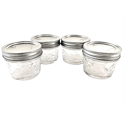 $11.85 • Buy Mason Ball Jelly Jars-4 Oz. Each - Quilted Crystal Style-Set Of 4
