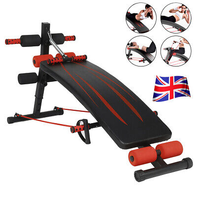 £35.99 • Buy Foldable Sit Up Bench Workout Exercise Gym Crunch Board Abdominal Fitnes Home UK