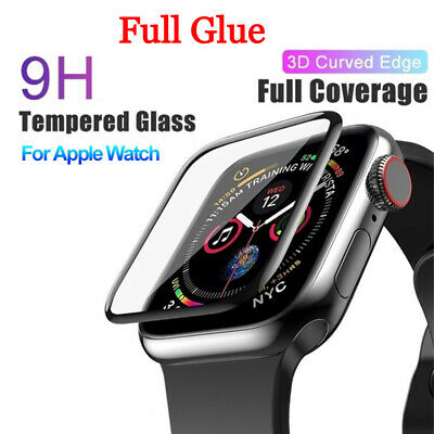 AU7.91 • Buy Full Glue Tempered Glass Screen Protector Cover For Apple Watch 6 5 4 3 2 SE