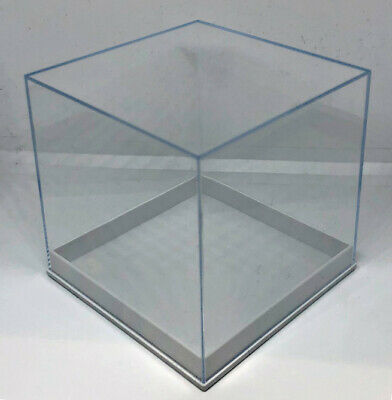 £6.99 • Buy CLEAR PERSPEX CUBE BOX 80mm Acrylic Shop Display Stand Plastic Base RETAIL CASE