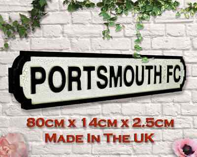£29.99 • Buy PORTSMOUTH FC 80cm Vintage Road Street Sign Wall Art Gift Football - FREE P+P