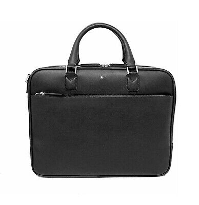 $675 • Buy Montblanc 113184 Black Sartorial Document Case Small Bag Leather New Italy N/box