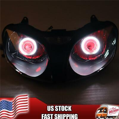 $259.99 • Buy MT Front Headlight Red Angel Eye Fit For Kawasaki 2000-2002 ZX6R 636 S014