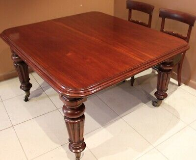 AU795 • Buy Antique Dining Table  Circa 1860 Solid English Mahogany Seats 8 Persons