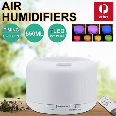 AU22.59 • Buy  Essential Air Mist Oil Aroma Diffuser Ultrasonic Humidifier Aromatherapy 500mL