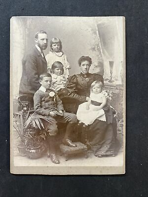 Victorian Photo: Cabinet Card: Large Family • 5.95£