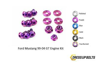 $67.49 • Buy Purple Dress Up Bolt Kit For 1999-2004 Ford Mustang GT (Engine)