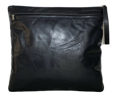 $ CDN194.33 • Buy M0851 Black Leather Hand Pouch Wallet Unisex Excellent Condition