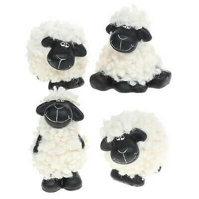 £18 • Buy Black Faced Sheep Woolly Ornaments (large) Ceramic Based Set Of 2 Or 4