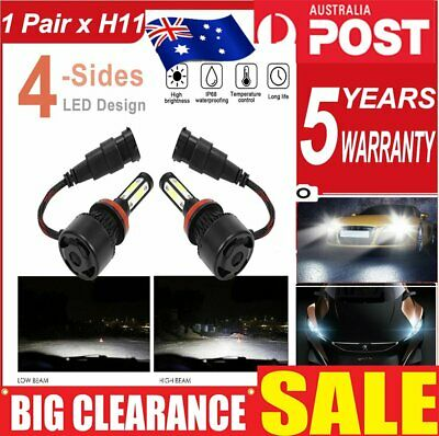 AU22.43 • Buy 2x H11 H8 H9 COB LED 2210W 331500LM High/Low Beam Globe Headlight Conversion Kit