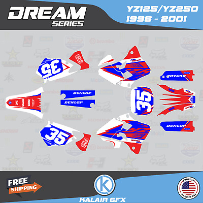 $79.99 • Buy Graphics Kit For Yamaha YZ250 YZ125 (1996-2001) YZ 250 YZ 125 Dream- Red