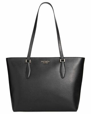 $ CDN125.31 • Buy Kate Spade On Purpose Black Saffiano Leather Zip Top Tote (VCR00008-001) - NWT