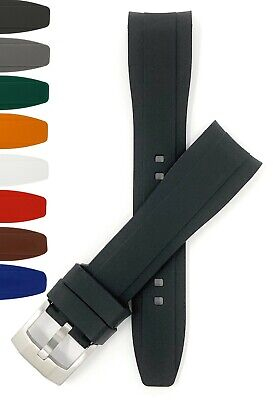 $ CDN24.14 • Buy Bandini Curved End Silicone Watch Band, Rubber Strap For Seiko Rolex Omega, More