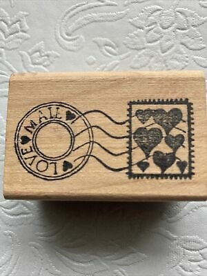 $4.99 • Buy Stamp Francisco Love Mail Postmark Rubber Stamp Valentine's Mother's Day Card