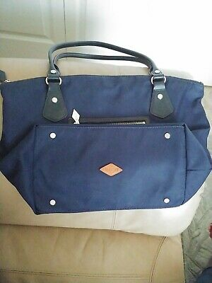 AU65.54 • Buy MZ WALLACE Dark  Blue NylonTote/shoulders Bag