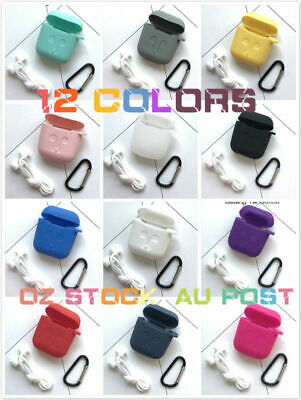 AU8.99 • Buy Apple Strap Shockproof Skin Soft Cover Holder Silicone Airpods Case Accessories