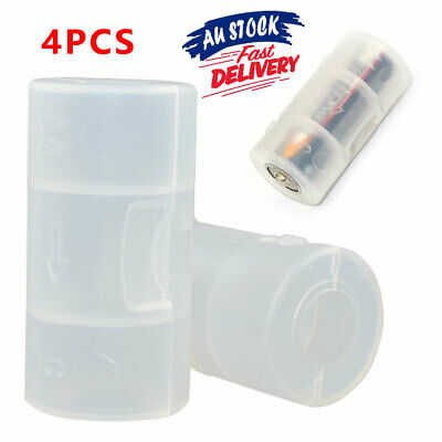 AU9.45 • Buy 4pcs Durable AA To C Battery Converter Shell Case Cell Size Adapter Box Holder