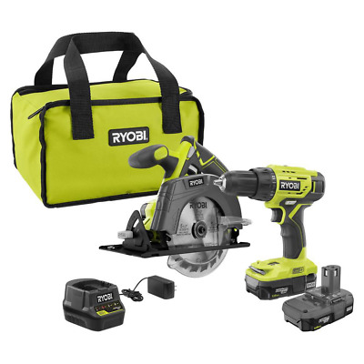 £109.92 • Buy 18-Volt One+ Lithium-Ion Cordless 2-Tool Combo Kit W/ Drill/Driver, Circular Saw