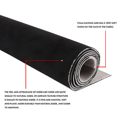 $46.99 • Buy Headliner Fabric Black Suede Backed Foam Roof Replacement For Honda Civic 01-05