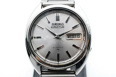 $ CDN108.88 • Buy Vintage Seiko 5 Actus Day/Date Auto Mens Watch Silver 7019-7070 Japan #W034
