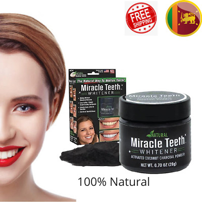 AU22.27 • Buy Teeth Whitening Active Charcoal Powder Natural Coconut Charcoal Toothpaste 20g