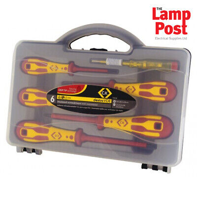 CK Tools T49182 VDE Insulated Screwdriver Set Of 6 Slotted Parallel & Phillips • 29.99£
