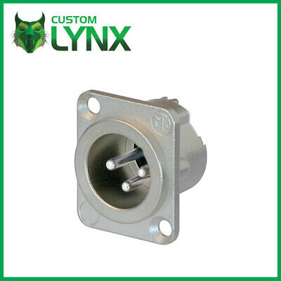 £5.75 • Buy Neutrik NC3MD-LX Male XLR Chassis Socket. Nickel 3 Pin Panel Mount Connector PRO