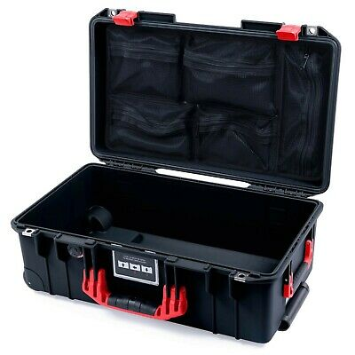 £160.14 • Buy Black & Red Pelican 1535 Air Case With Lid Organizer. With Wheels.