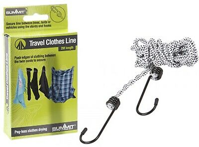 £3.39 • Buy Clothes Travel Washing Line 2 Metre - Pegless - Camping - No Pegs
