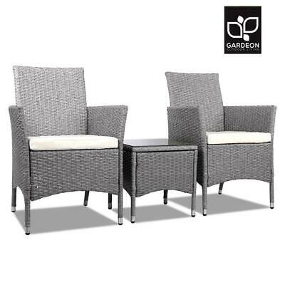 AU226.20 • Buy Gardeon Patio Furniture Outdoor Setting Bistro Set Chair Side Table 3 Piece