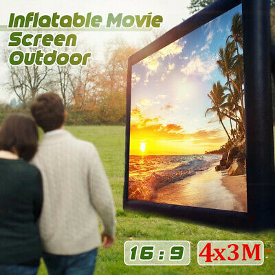 AU173 • Buy 4*3M Inflatable Movie Screen Outdoor Projector Screen Outdoor Cinema Party