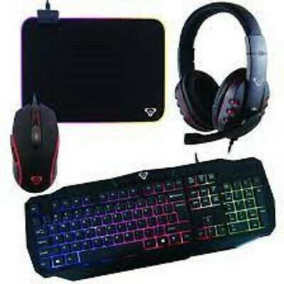 AU99.90 • Buy Laser Gaming Bundle RGB Mouse, Mouse Pad, Keyboard And Headset