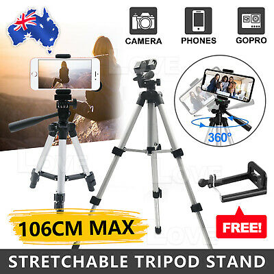AU12.95 • Buy Professional Camera Tripod Stand Mount + Phone Holder For  IPhone Phone Samsung