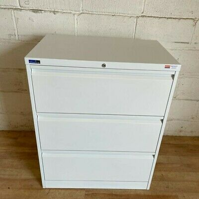£195 • Buy SILVERLINE Lateral 3dw Filing Cabinet 100cm White Cupboard Storage Office Bisley