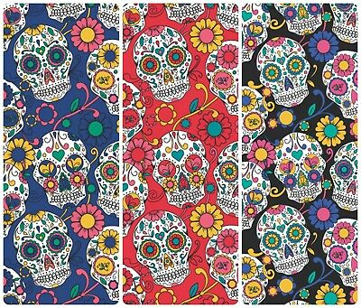 £4.45 • Buy Halloween Fabric Sugar Skulls Day Of The Dead  Poly Cotton Material  Half Metre
