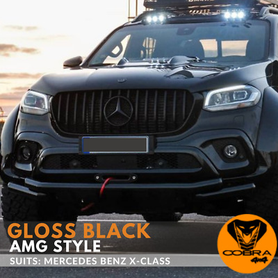 AU439 • Buy Gloss Black Grill Suits Mercedes Benz X-Class AMG Style Front Grille X Class