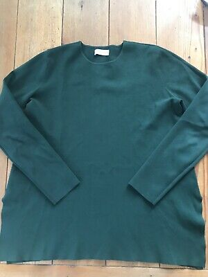 AU70 • Buy Scanlan Theodore Micro Crepe Knit Top Size Medium Forest Green