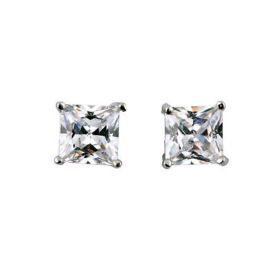 $6.59 • Buy 1 PAIR CZ CLEAR SQUARE / ROUND MAGNETIC Clip-On EARRINGS STUDS Men Women