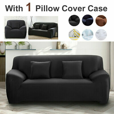 AU24.99 • Buy Sofa Covers 1/2/3/4 Seater High Stretch Lounge Slipcover Protector Couch Cover
