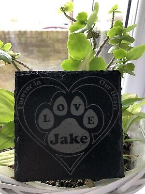 £5 • Buy Memorial Plaque For Pet Dog - Personalised Dogs Grave Stone Slate Marker