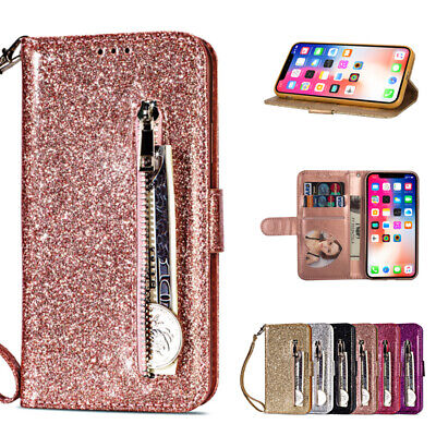 AU12.95 • Buy Bling Glitter Wallet Leather Case Magnetic Flip Cover For IPhone 11 12 Pro Max