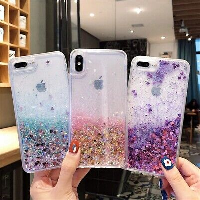 AU7.95 • Buy Liquid Glitter Case For IPhone 12 11 Pro Max 6S Bling Quicksand Shockproof Cover